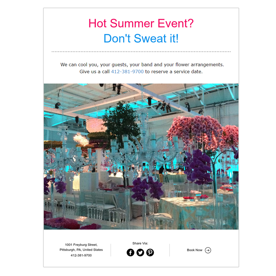 Summer Event Cooling Solutions